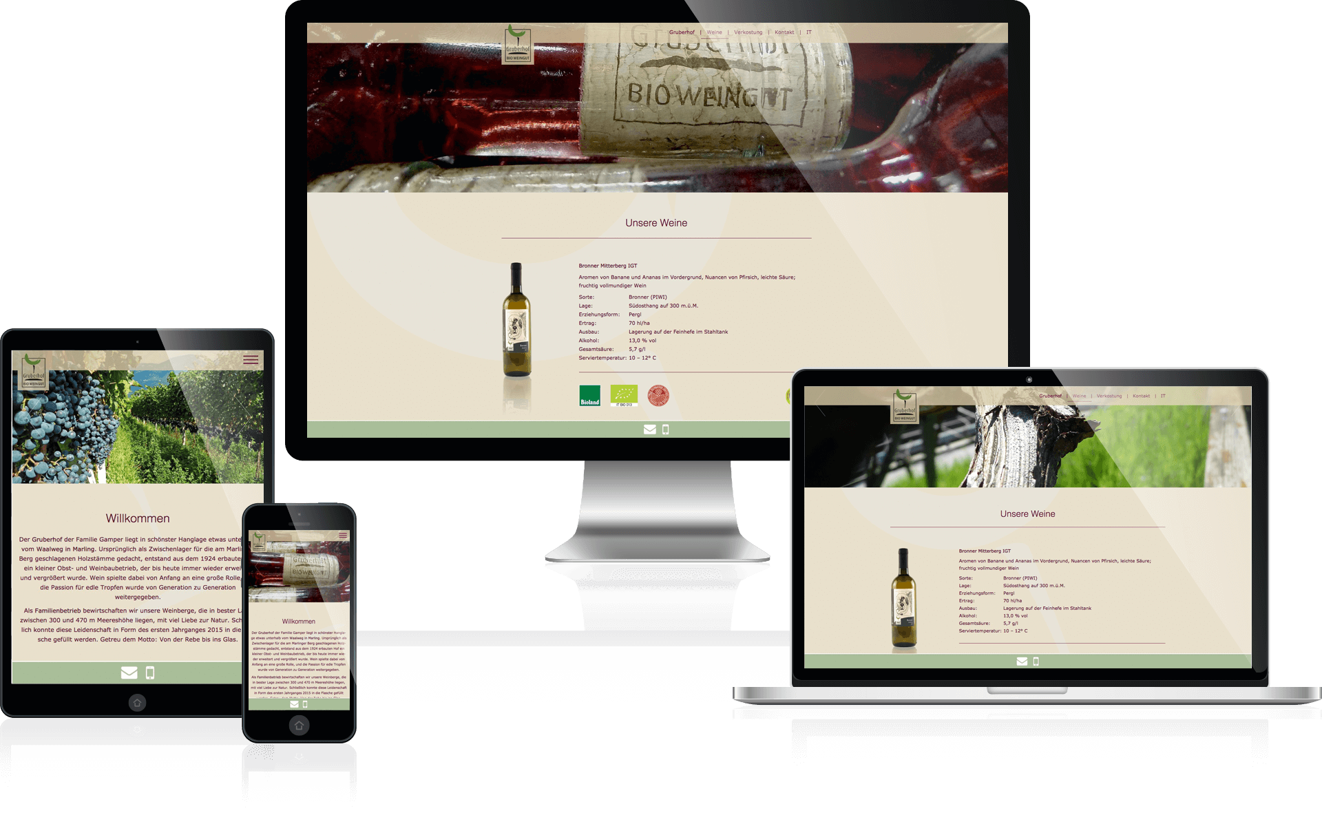 Gruberhof Marling Bio Weingut zepra.it - Screenshots